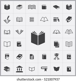book icon. books icons universal set for web and mobile