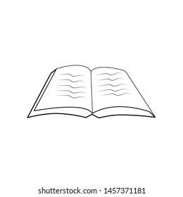 book icon design template vector