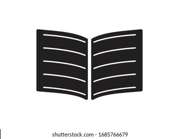 Book Icon Design Vector Template With White Lines In Between