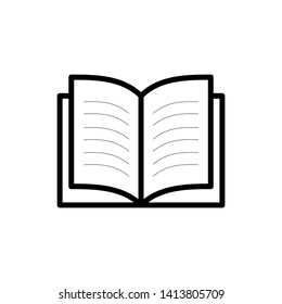 Book icon. Book icon isolated on white background
