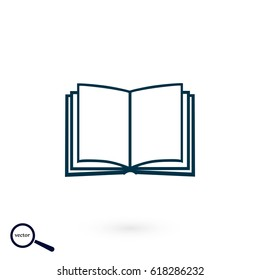 Book icon isolated on white bockground, flat design best vector icon