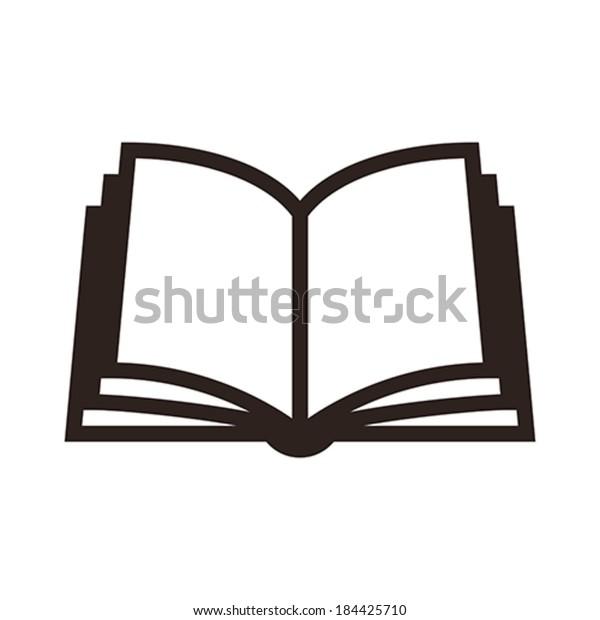 Image Vectorielle De Stock De De Livre Sur Fond Blanc 184425710