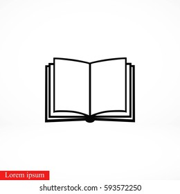 Book icon isolated on whitebackground, flat design best vector icon