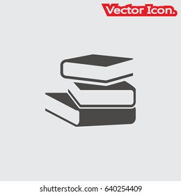 Book icon isolated sign symbol and flat style for app, web and digital design. Vector illustration.