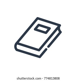 Book icon. Isolated textbook and book icon line style. Premium quality book vector symbol drawing textbook concept for your logo web mobile app UI design.