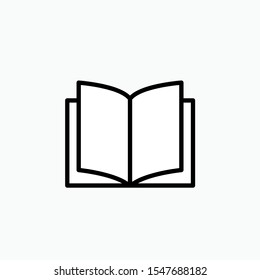 Book Icon. Lecture or Library Illustration As A Simple Vector Sign & Trendy Symbol for Design, Websites, Presentation or Application.
