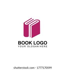 Book Icon Logo Vector Template