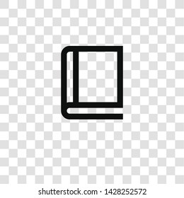 book icon from miscellaneous collection for mobile concept and web apps icon. Transparent outline, thin line book icon for website design and mobile, app development