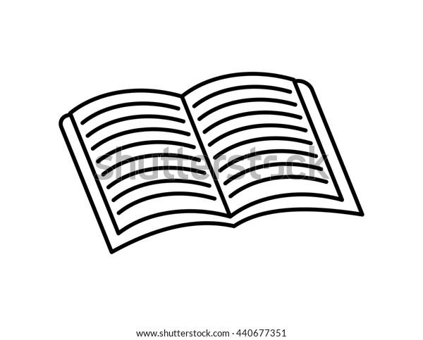 book  icon. reading  design. vector graphic