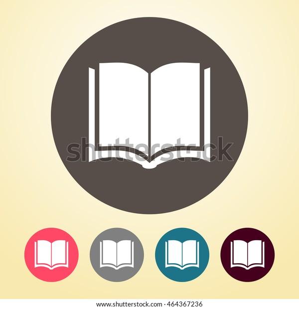 Image Vectorielle De Stock De Livre En Forme Ronde 464367236