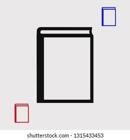 book icon, stock vector illustration flat design style