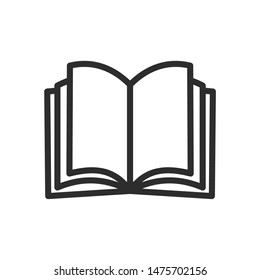 Book icon template color editable. Book symbol vector sign isolated on white background.