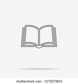 Book icon. Vector concept illustration for design.
