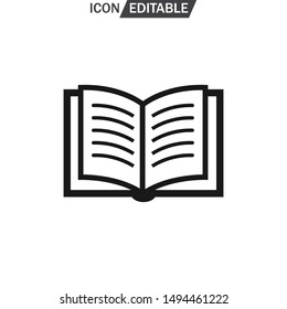 book icon, vector illustration. Flat design for icon on web or app