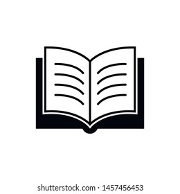 Book icon vector illustration on white background. Signs and symbol for websites, web design, mobile app