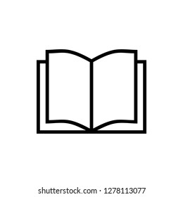 Book icon vector. Book icon isolated
