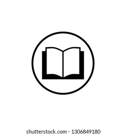Book icon vector. Book icon isolated