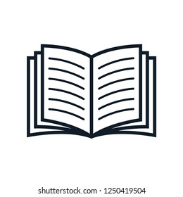 Book icon vector logo template