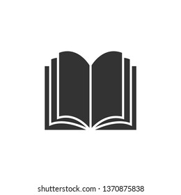 Book icon vector on white background