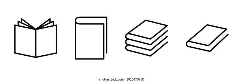 Book icon vector. open book icon vector. ebook icon