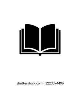 Book icon vector, open book eps10, 10 eps
