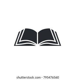 Book icon vector, solid illustration, pictogram isolated on white. Book logo