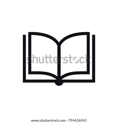 Book Icon Vector Solid Illustration Pictogram Isolated On White Logo