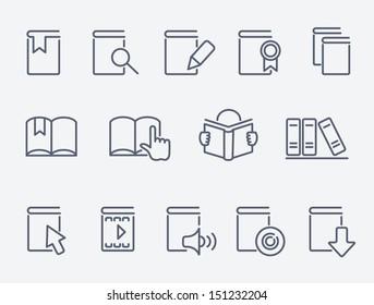 Book icons set