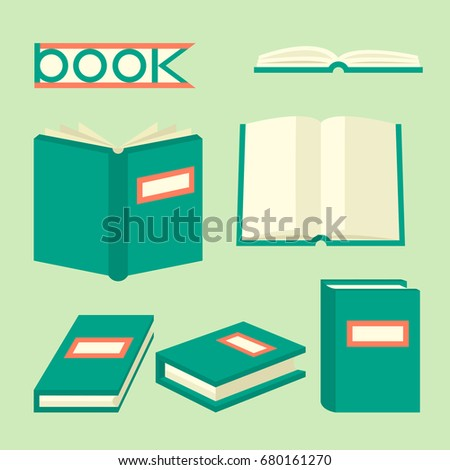 Book Isometric Signs Symbols Education Concept Stock Vector Royalty