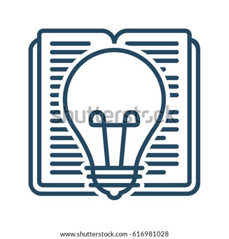 Book Light Bulb Vector Icon Meaning Stock Vector Royalty Free