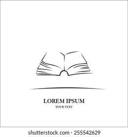 Book line art