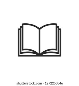 Book line icon vector