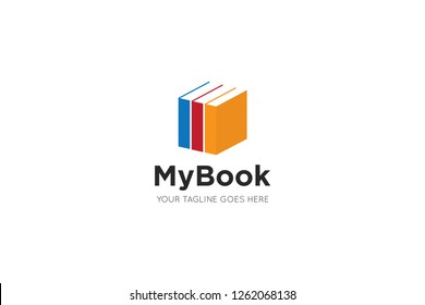 book logo and bookstore icon vector design template