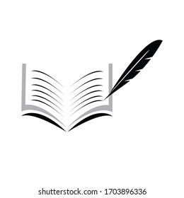 Book logo design vector stock