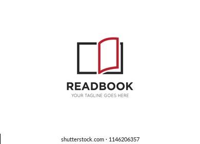 book logo, icon, symbol design template