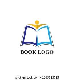 Book Logo Template vector Illustration design