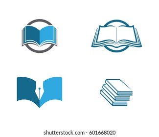Book Logo Template vector Illustration design