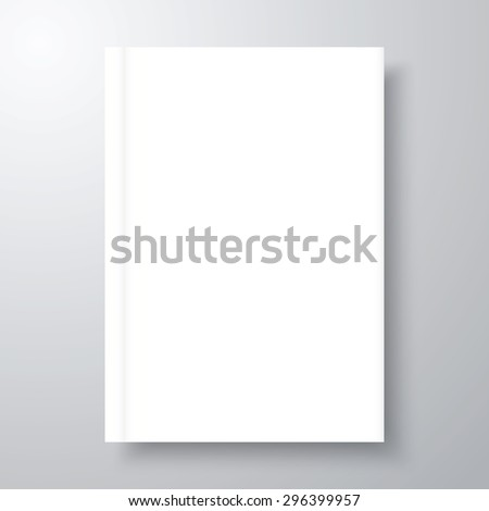 book mockup shadow blank empty template stock vector royalty free