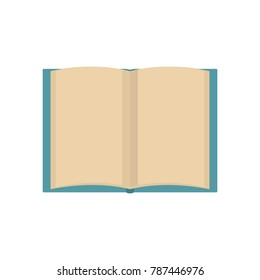 Book novel icon. Flat illustration of book novel vector icon isolated on white background