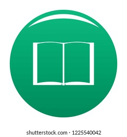 Book novel icon. Simple illustration of book novel vector icon for any design green