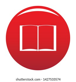 Book novel icon. Simple illustration of book novel vector icon for any design red