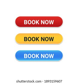 Book Now button with with difference color for website and UI material