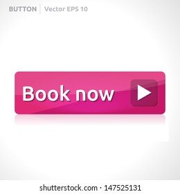 Book now button template | vector design eps | business banner with symbol icon | website element | web pink