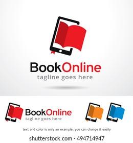 Book Online Logo Template Design Vector