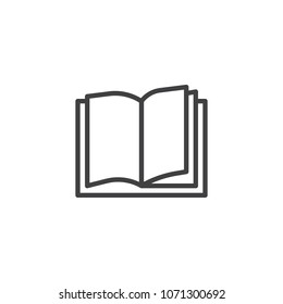 Book outline icon. linear style sign for mobile concept and web design. Open book simple line vector icon. Education symbol, logo illustration. Pixel perfect vector graphics
