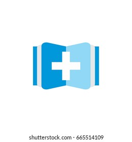 book with plus logo