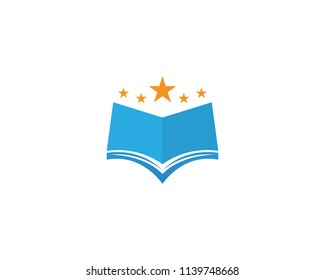 Book reading logo symbols template icons app