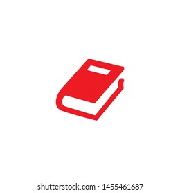 book red icon symbol vector illustration
