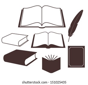 Book. Set. Vector illustration