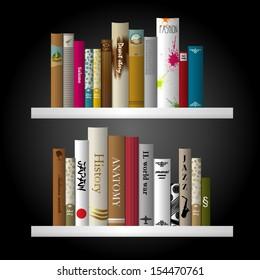 Book shelf interior.